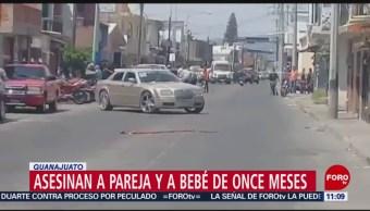 Asesinan a una pareja y su bebé en Salamanca, Guanajuato