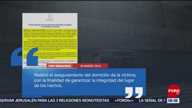 FOTO: Asesinan en Veracruz al activista Abiram Hernández Fernández, 31 Marzo 2019