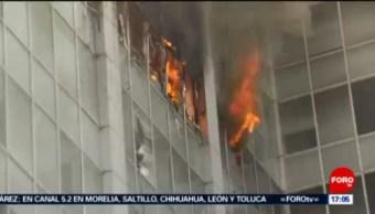 FOTO:Así fue el incendio en las instalaciones de la Conagua, 23 Marzo 2019