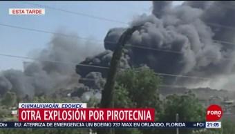 Foto:Nueva Explosión Pirotecnia Edomex cHIMALHUACAN 26 de Marzo 2019