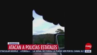 Atacan a policías estatales en Durango