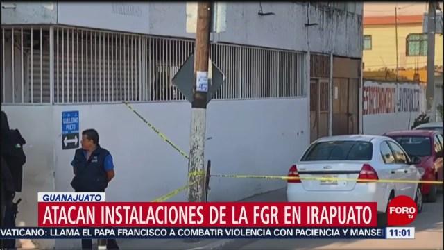 Atacan Fiscalía General de la República en Irapuato, Guanajuato