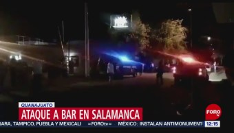 FOTO: Ataque armado bar en Salamanca en Guanajuato, 9 marzo 2019