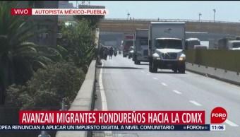 Avanzan migrantes hondureños hacia la CDMX