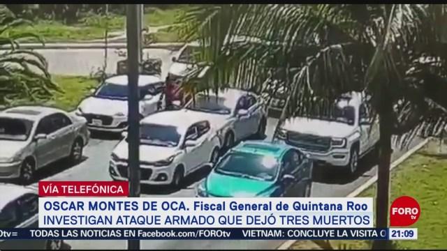 FOTO: Balacera en Cancún causa tres muertos, 2 marzo 2019