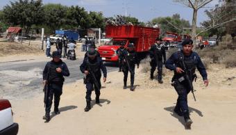 Foto: Enfrentamiento entre grupos antagónicos de transportistas deja al menos tres heridos en Oaxaca, marzo 5 de 2019 (Twitter: @DiarioEncuentro)