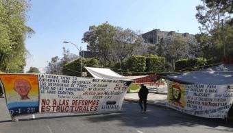 Foto: Bloqueos de la CNTE en Palacio Legislativo, 28 de marzo de 2019, Ciudad de México