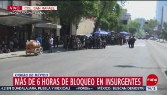 Foto: Bomberos cierran circulación en Insurgentes