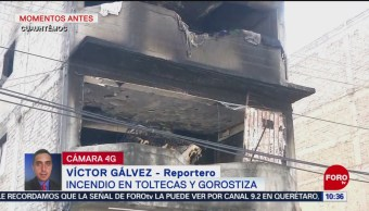 Bomberos sofocan incendio en edificio de la Cuauhtémoc