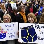 Foto: Miles de personas marchan en Londres para exigir segundo referéndum sobre 'brexit', 23 marzo 2019
