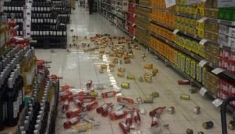 Foto: Un supermercado en Cali, Colombia, tras el sismo de magnitud 6.0 este sábado, Colombia, marzo 23 de 2019 (Twitter: @lauraggggggg)