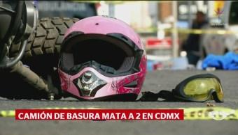 FOTO:Camión de basura de la CDMX atropella a dos personas, 18 Marzo 2019