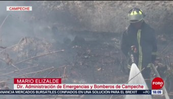 Foto: Campaña contra incendios forestales en Campeche