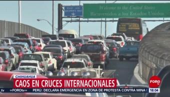Foto: Caos Vial Cruces Fronterizos Chihuahua 29 de Marzo 2019