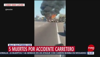 Foto: Carambola en Baja California Sur deja 5 muertos