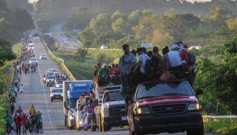 Imagen: Una nueva caravana de migrantes, donde van cubanos, viajan rumbo a Estados Unido, el 24 de marzo de 2019 (Cuartoscuro, archivo)