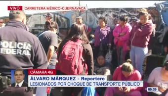 Catorce lesionados por choque en la México-Cuernavaca