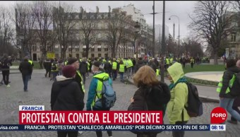 FOTO: Chalecos Amarillos protestan contra el presidente Macron en Francia, 2 marzo 2019