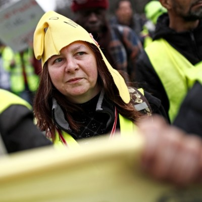 Baja la participación en protesta de 'chalecos amarillos' en Francia