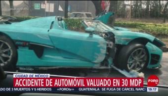 FOTO:Choca automóvil deportico valuado en 30 mdp, 18 marzo 2019