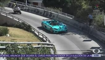 Chocan auto de 30 millones de pesos en CDMX