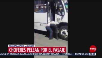 FOTO: Choferes pelean por el pasaje en Guadalajara, Jalisco, 17 marzo 2019