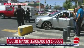 Foto: Choque deja un lesionado en la colonia Doctores, CDMX