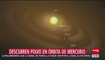 Científicos de NASA descubren anillo de polvo en Mercurio