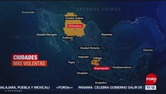 Foto: Ciudades de México, entre las más violentas del mundo