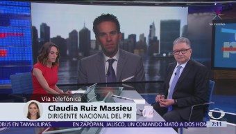 Claudia Ruiz Massieu evalúa cien días de AMLO presidente