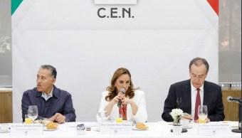 Foto: Claudia Ruiz Massieu, presidenta nacional del PRI, 6 de marzo de 2019. Twitter @ruizmassieu