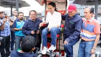 Foto: La jefa de Gobierno de CDMX, Claudia Sheinbaum, hizo un recorrido con los alcaldes de Azcapotzalco, Cuauhtémoc y Miguel Hidalgo este sábado, el 30 de marzo de 2019