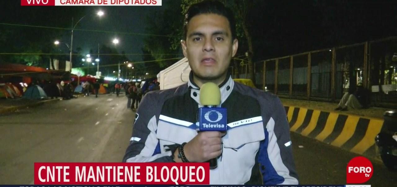 Foto: CNTE Mantiene Bloqueo Cámara Diputados 20 de Marzo 2019