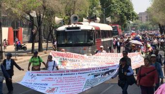 FOTO CNTE marcha al Senado; cierran Reforma, centro de CDMX 7 marzo 2019 noticieros televisa