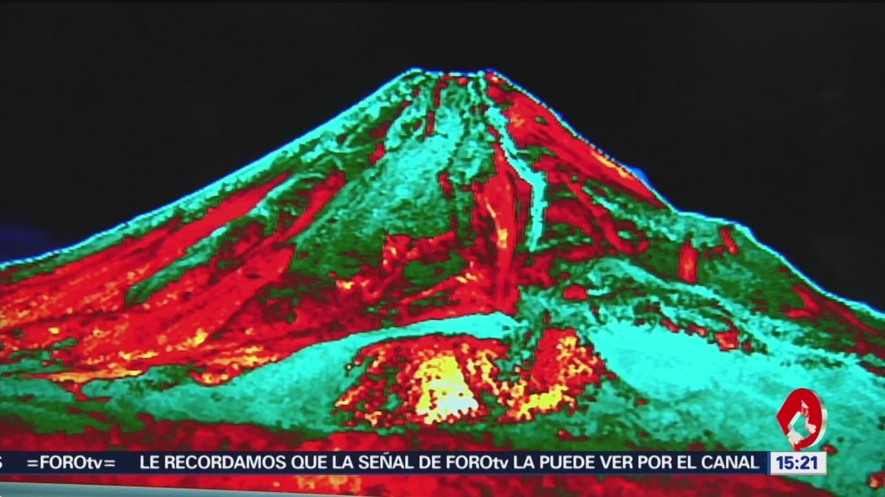 FOTO: Colocan cámara térmica en volcán de Colima, 31 Marzo 2019