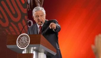 foto: El presidente de México, Andrés Manuel López Obrador, ofrece su conferencia de prensas matutina, 7 marzo 2019