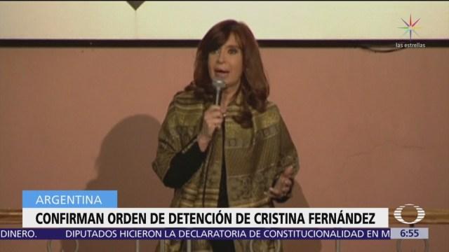 Foto: Confirman orden de detención de Cristina Fernández