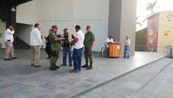 Foto: Amenaza de bomba en el Congreso de Morelos, 21 de marzo 2019. Twitter @linea_caliente