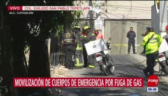 Controlan fuga de gas natural en alcaldía Coyoacán, CDMX