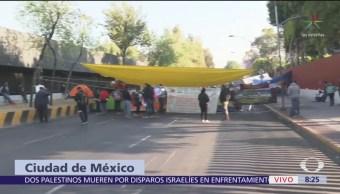 Cortes a la circulación en Congreso de la Unión por manifestantes