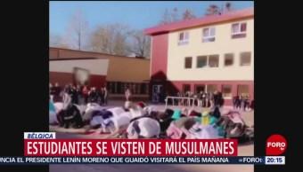 Foto: Estudiantes Belgas Disfrazados Musulmanes 1 de Marzo 2019