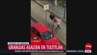 Foto: Delincuentes asaltan a automovilistas en Tultitlán, Estado de México