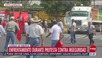 Foto: Delincuentes Protesta Inseguridad Iztapalapa 15 de Marzo 2019