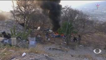 Foto: Desalojo Predio Paracaidistas Vandálismo Chiapas 15 de Marzo 2019