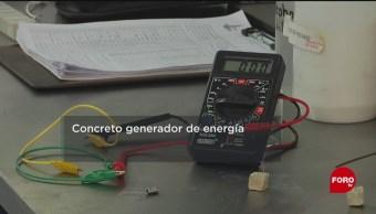 FOTO: Desarrollan concreto generador de energía, 17 marzo 2019
