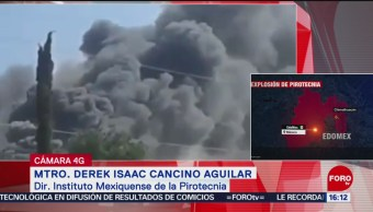 Foto: Despliegan dispositivo de seguridad tras explosión de pirotecnia en Edomex; no hay heridos