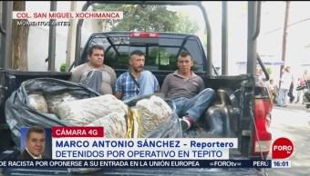 Foto: Detienen a 3 hombres con droga en Tepito