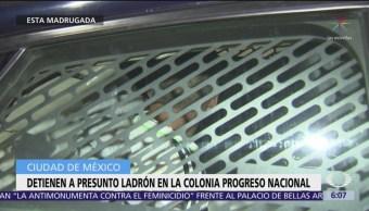 Foto: Detienen a presunto ladrón en la colonia Progreso Nacional, CDMX