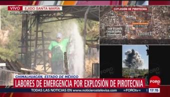Foto: Dos polvorines estallaron en el Estado de México