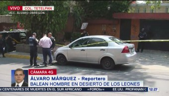 Ejecutan a conductor en Avenida Desierto de los Leones, CDMX